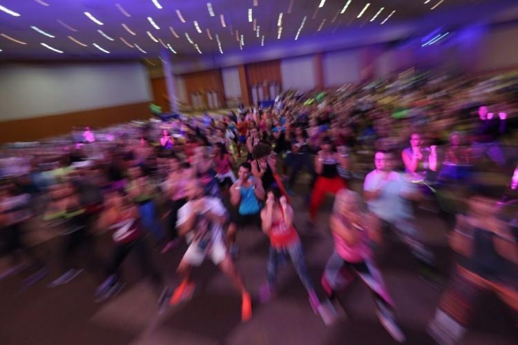 Professores no worshop de Piloxing, que une pilates, boxe e dança